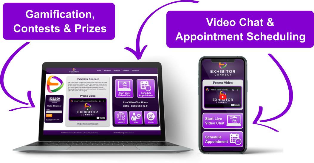 Virtual-Trade-Show-Expo-Hall-Video-Chat-Exhibitor-Profile-Graphic