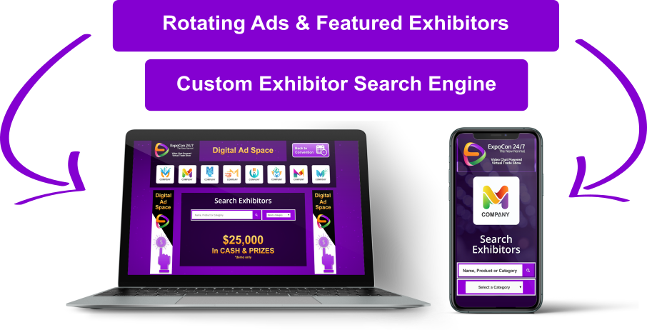 Virtual-Trade-Show-Expo-Hall-Video-Chat-Demo-Graphic-Exhibitor-Connect